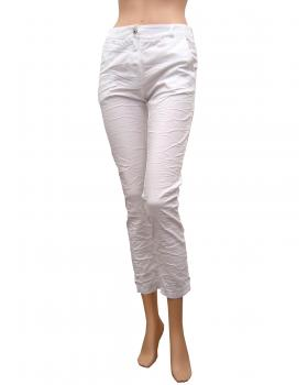 Damen Hose Crash Look, weiss