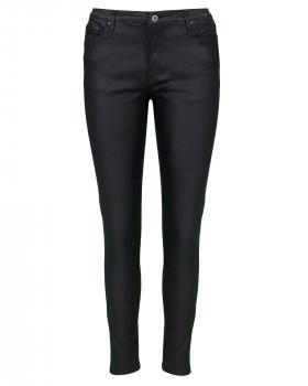 Hose in Lederoptik, schwarz von Moda Italia