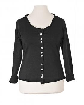 Jersey Jacke, schwarz