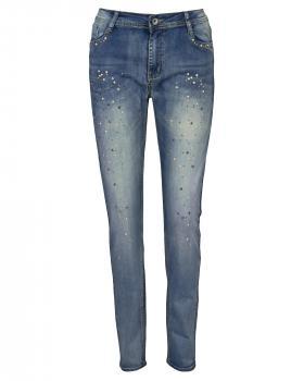 Jeans mit Schmucksteinen, blau