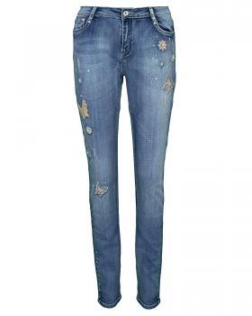 Jeans Stretch Stickerei, blau von mychristy