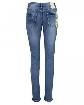Jeans Stretch Stickerei, blau (Bild 2)