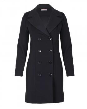 Jersey Blazer Mantel, schwarz von Made in Italy