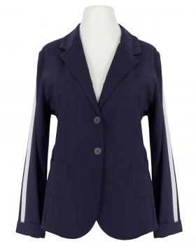 Jersey Blazer Streifen, blau von fashion made in italy von fashion made in italy