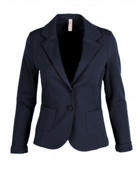 Jersey Blazer tailliert, blau von fashion made in italy