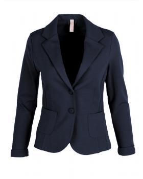 Jersey Blazer tailliert, blau