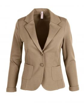 Jersey Blazer tailliert, camel von fashion made in italy