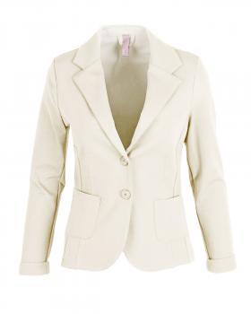 Jersey Blazer tailliert, milchweiss von fashion made in italy von fashion made in italy