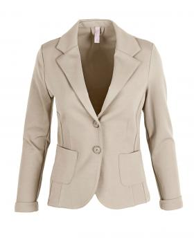 Jersey Blazer tailliert, sand von fashion made in italy von fashion made in italy