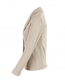 Jersey Blazer tailliert, sand von fashion made in italy