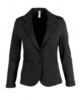 Jersey Blazer tailliert, schwarz von fashion made in italy von fashion made in italy