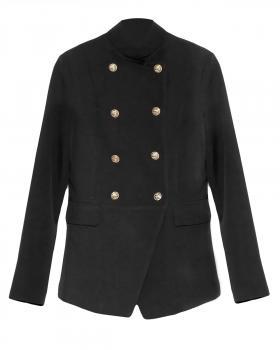 Jersey Blazer Uniform Stil, schwarz von Selected Touch