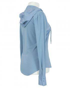 Jersey Bluse mit Kapuze, eisblau (Bild 2)
