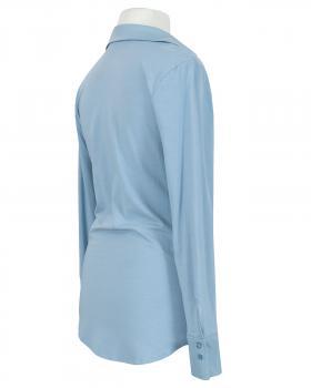 Jersey Hemdbluse, eisblau (Bild 2)
