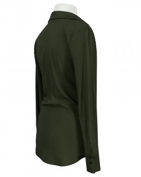 Jersey Hemdbluse, oliv (Bild 2)