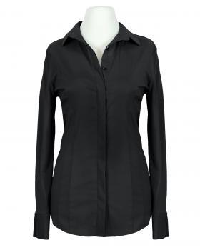 Jersey Hemdbluse, schwarz von fashion made in italy
