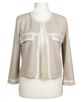 Jersey Jacke, beige von Lady Lot Paris von Lady Lot Paris