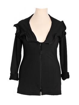 Jerseyjacke, schwarz