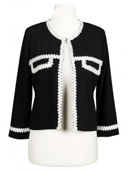 Damen Jersey Jacke, schwarz