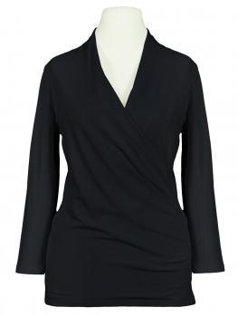 Jersey Shirt Wickeloptik, schwarz von RESTART (Bild 1)