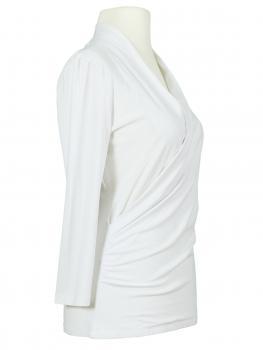 Jersey Shirt Wickeloptik, weiss (Bild 2)