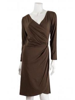 Jersey Kleid Langarm, braun (Bild 1)