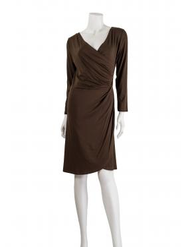 Jersey Kleid Langarm, braun (Bild 2)