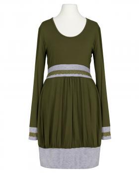 Jerseykleid Ballonform, oliv