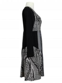 Jerseykleid mit Muster, schwarz (Bild 2)