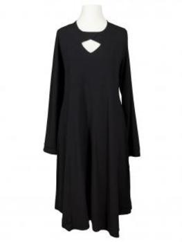 Jerseykleid A-Form, schwarz