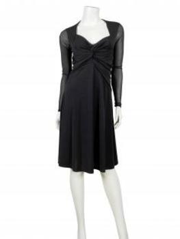 Jerseykleid Wickeloptik, schwarz (Bild 2)