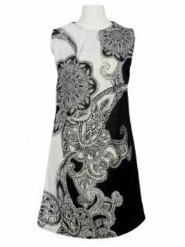 Jerseykleid, schwarz ecru