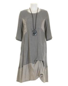 Jerseykleid A-Linie, grau
