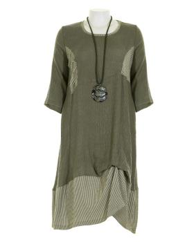 Jerseykleid A-Linie, oliv