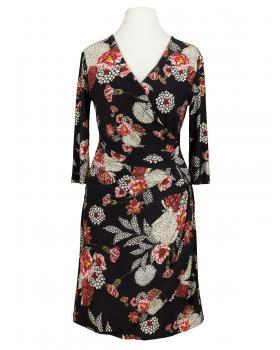Jerseykleid Blumenmuster, schwarz von Lady Lol Paris