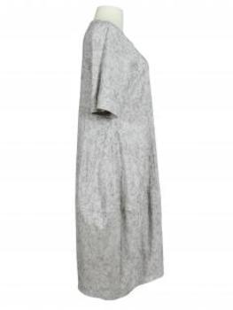 Jerseykleid Jaquard, grau