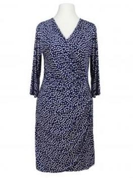 Jerseykleid mit Punkten, blau von Lady Lot Paris von Lady Lot Paris