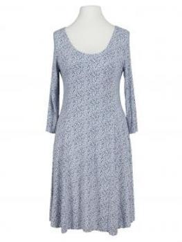 Jerseykleid mit Punkten, hellblau