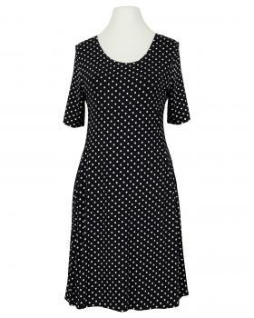 Jerseykleid mit Punkten, schwarz