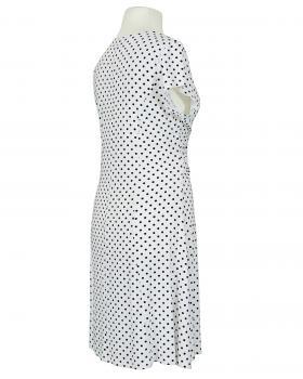 Jerseykleid mit Punkten, weiss (Bild 2)