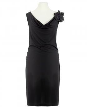 Jerseykleid mit Spitze, schwarz