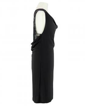 Jerseykleid mit Spitze, schwarz (Bild 2)