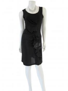 Jerseykleid mit Volant, schwarz (Bild 2)