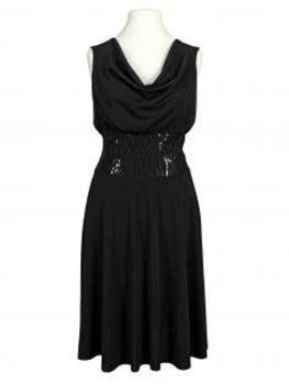 Jerseykleid Pailletten, schwarz (Bild 1)