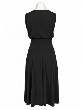 Jerseykleid Pailletten, schwarz
