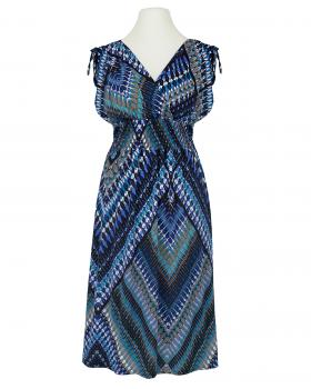 Jerseykleid Print, blau (Bild 1)