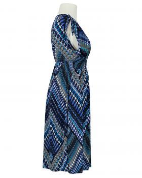 Jerseykleid Print, blau (Bild 2)