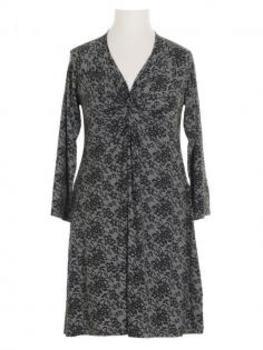 Jerseykleid Print, grau