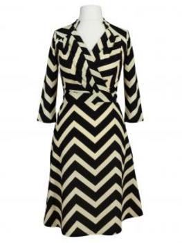 Jerseykleid Streifen, schwarz creme (Bild 1)