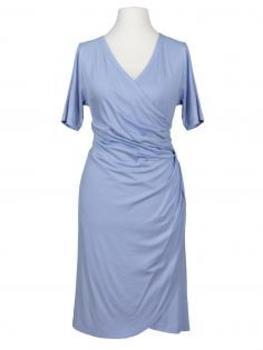 Jerseykleid Wickeloptik, hellblau